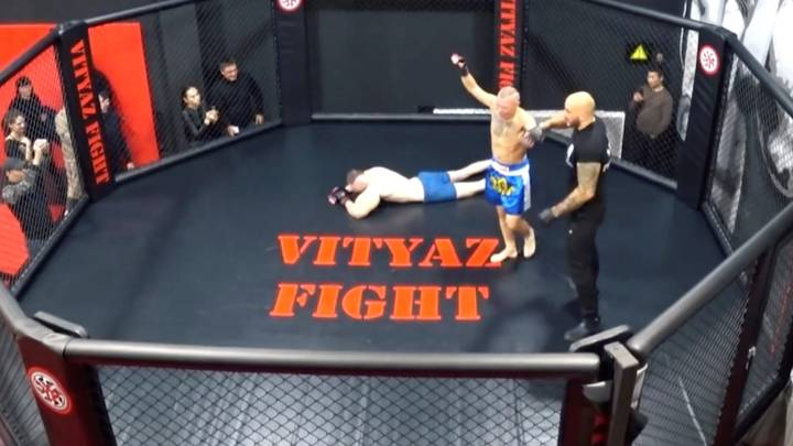 Russian 'Popeye' Bodybuilder Taps Out In Three Minutes During MMA Fight