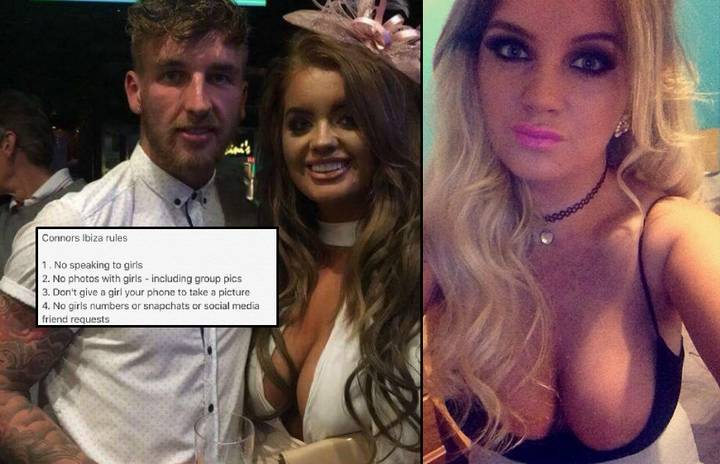 Millionaire Girlfriend Gives Her Boyfriend Outrageous List Of Rules For Holiday With The Lads