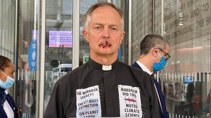 Vicar Sews His Lips Shut During Dramatic Protest Against Rupert Murdoch And News Corp