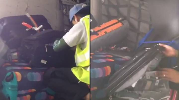 Baggage Handler Caught Stealing From Passengers' Luggage On Flight