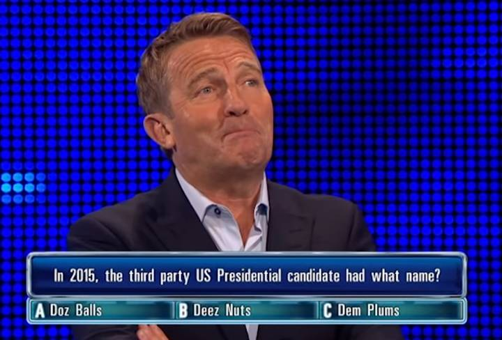 Bradley Walsh And Scott Mills Can't Cope With 'Deez Nuts' Question On 'The Chase'