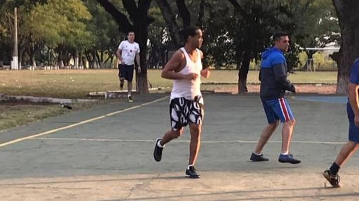 Ronaldinho Shows Off His Skills In Paraguayan Prison Football Tournament