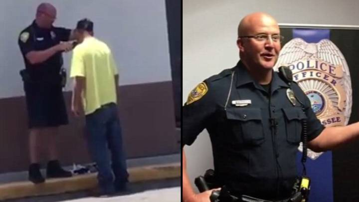 Police Officer Helps Homeless Man Shave For McDonald's Job Interview