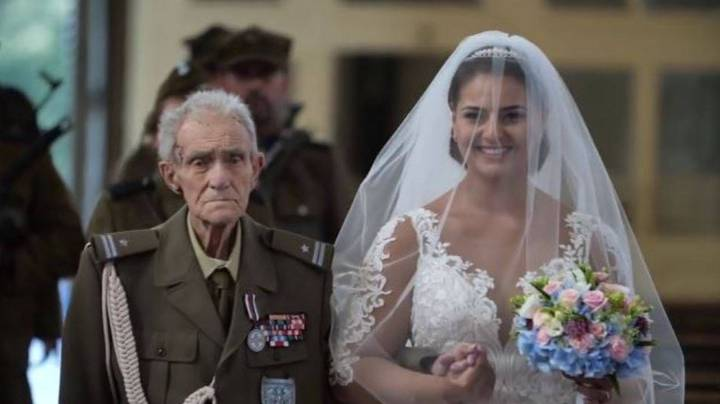 WWII Hero Dies Two Days After Walking Granddaughter Down The Aisle