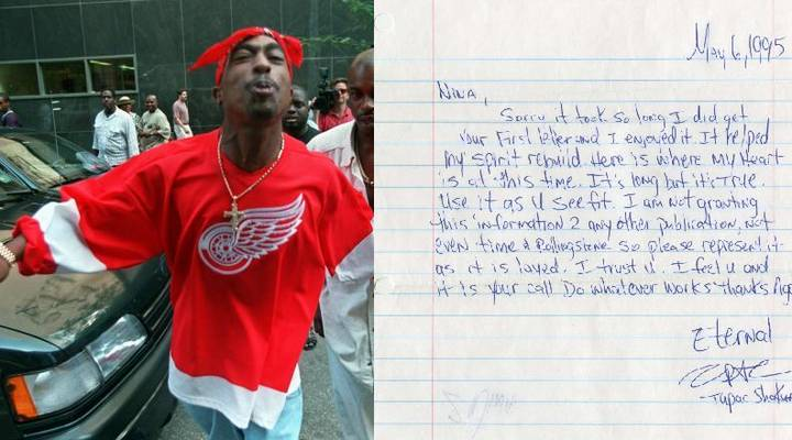 Letter From Tupac Smashes It At Auction And Shows His Genius