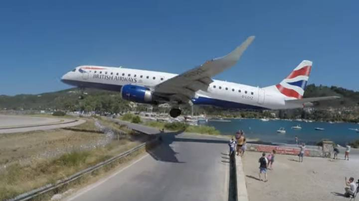 Heart-Stopping Footage Shows Plane Landing Just Feet From Tourists