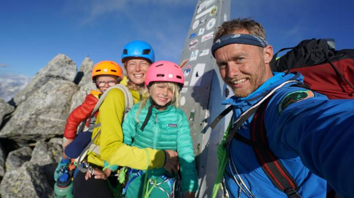 Couple Take Young Son And Daughter Up 11,000ft Mountain