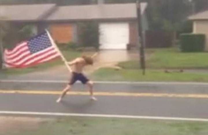 Man Headbangs To Slayer In Middle Of Hurricane Matthew