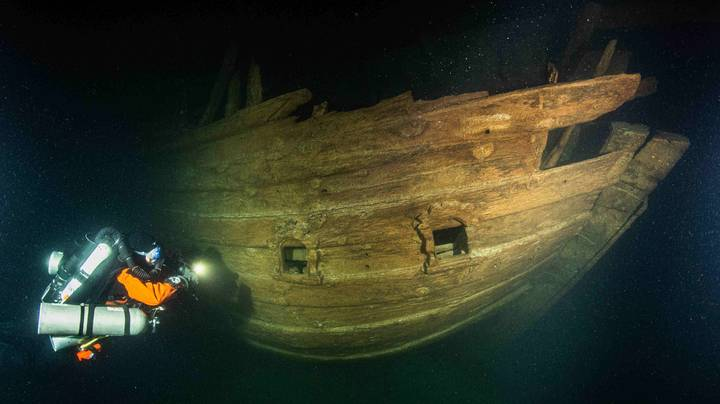 Mysterious Sunken Ship Found In Near-Perfect Condition In The Baltic Sea
