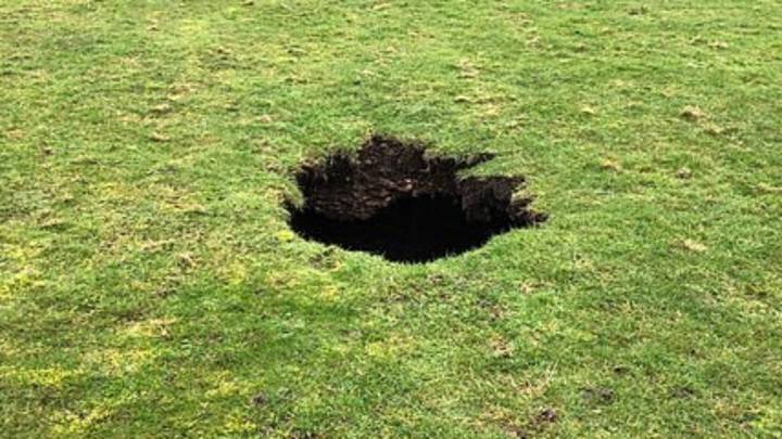 Huge 40 Foot Deep Sinkhole Opens Up In UK Playing Field