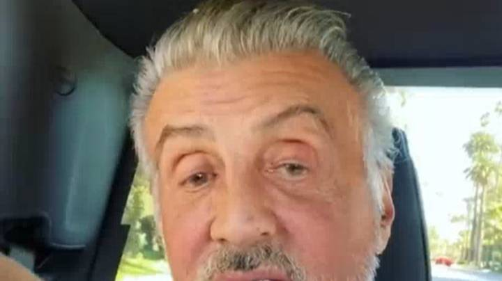 Sylvester Stallone Shows Off Full Head Of Grey Hair