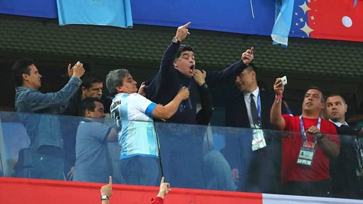 Diego Maradona Explains Antics At Argentina Game - He Was Full Of White Wine