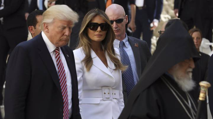 Melania Trump 'Slaps' Donald's Hand Away While On Visit In Israel