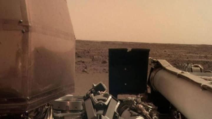 NASA InSight Probe Sends Back First 'Selfie' From Mars
