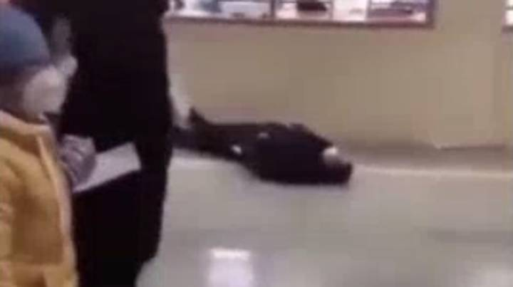 Footage Shows People Dropping To The Ground In China Amid Coronavirus Outbreak