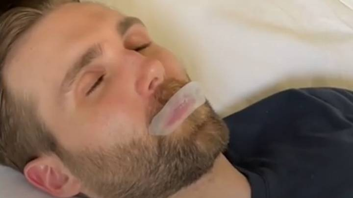 Health Expert Explains Why He Sleeps With His Mouth Taped Shut
