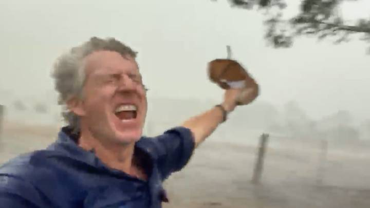 Farmers Are Jumping For Joy After Rain Finally Reaches Rural Australia