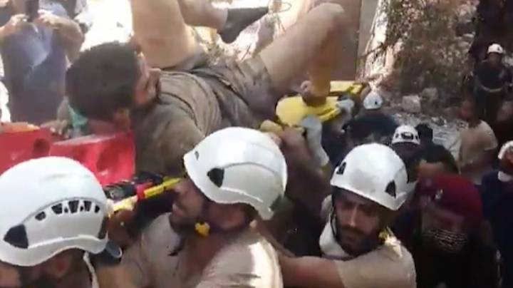 Crowd Cheer As Man Is Pulled From Rubble Following Beirut Explosion
