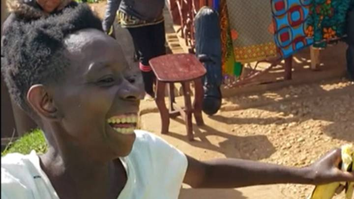 Ugandan Woman Dances With Joy After Being Gifted First Pair Of Shoes