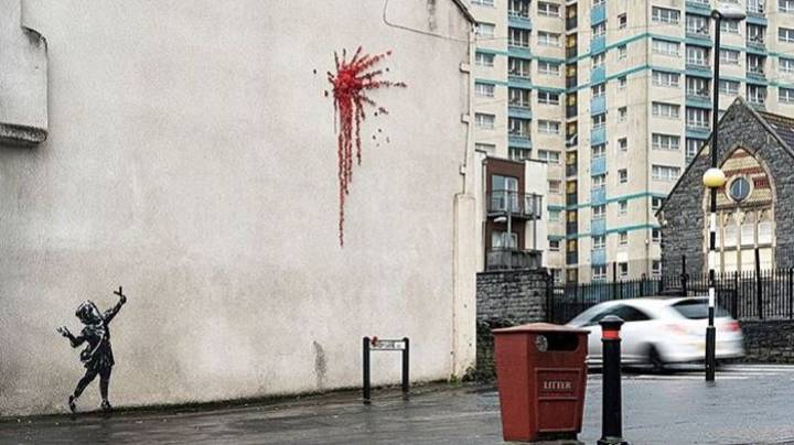 Banksy Confirms That Valentine's Day-Inspired Artwork Is His