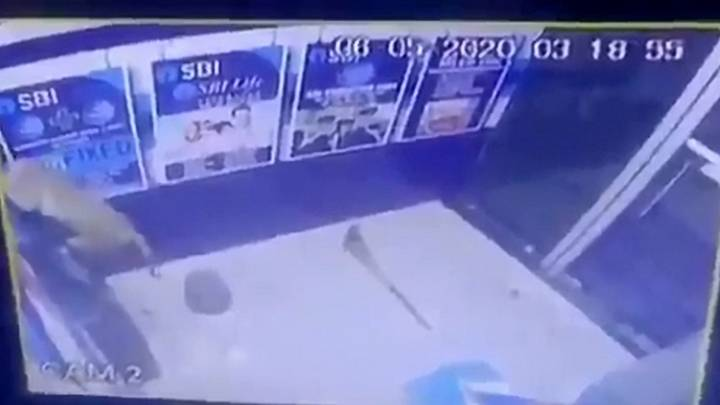 CCTV Reveals Suspected Bank Robbery Actually Monkey Smashing The ATM