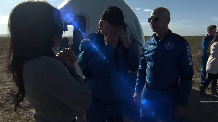Star Trek Captain William Shatner Tears Up After Returning From Space