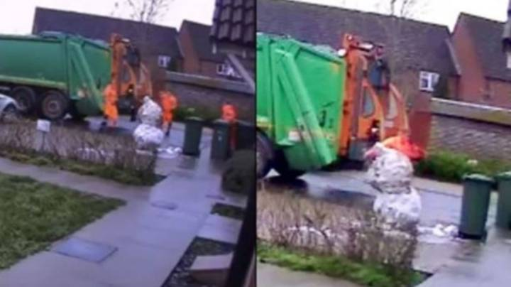 Binman Sacked For Kicking Head Off Snowman In Front Of Child