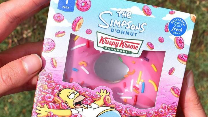 Krispy Kreme Is Selling A Real Version Of The Simpsons Donut