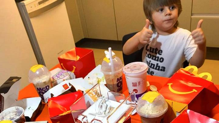 Hungry Three-Year-Old Orders Huge McDonald's Feast With Mum's Phone
