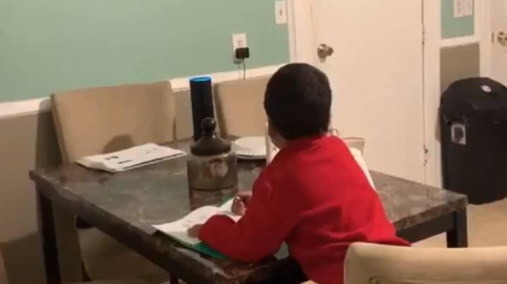 Mum Catches Six-Year-Old Boy Using Alexa To Cheat On His Homework