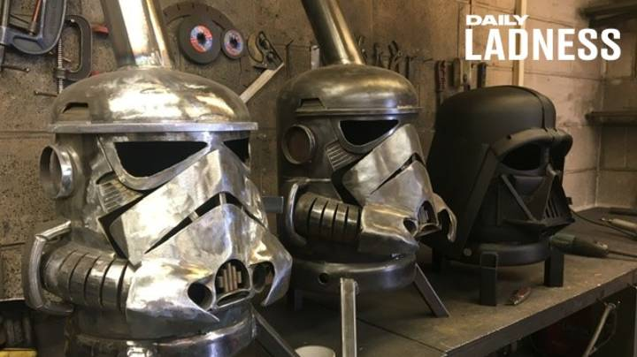 Former Teacher's School Project Spirals Into Full-Time Star Wars Wood Burner Business