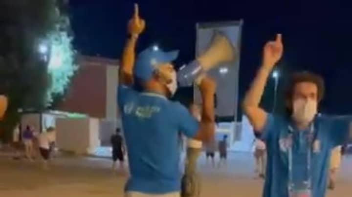 Italian Steward Singing 'Football's Coming Home' Is Peak Euro 2020