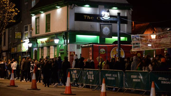 Pub Goers Queue Up At Midnight To Have First Pints As Lockdown Eases
