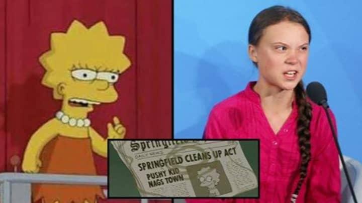 People Think The Simpsons Predicted Greta Thunberg
