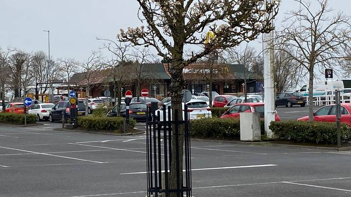 People Are Joining Huge Queues To Get A McDonald's Before They Close
