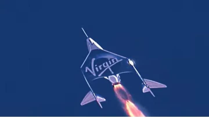 Sir Richard Branson Blasts Off To The Edge Of Space On Virgin Atlantic Rocket