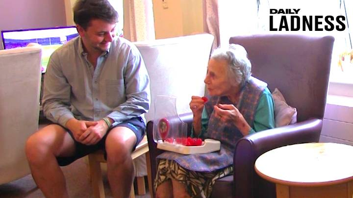 LAD Moves Into Grandma's Care Home To Develop Water-Based Sweet That Keeps OAP's Hydrated