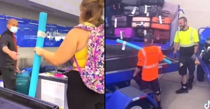 Student Exploits Airline's 'Two Bags Fly Free' Policy By Checking In Pool Noodle