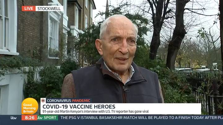 Elderly Vaccine Recipient Asks Piers Morgan 'Who Are You?' During Live Interview