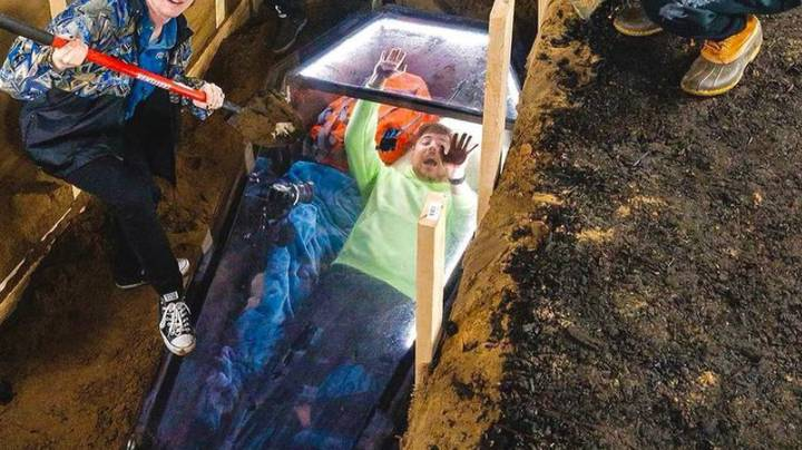 YouTuber MrBeast Spends 50 Hours Buried Alive In Coffin