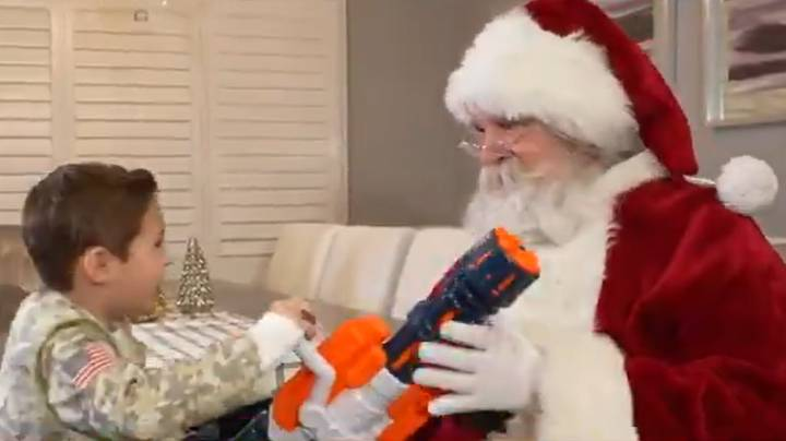 Boy Denied Nerf Gun By Santa Given Toy Rifles By NRA