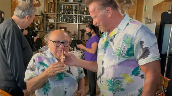 Arnold Schwarzenegger Tried To Get Revenge For Danny DeVito's Weed Cigar Prank But It Didn't Go To Plan