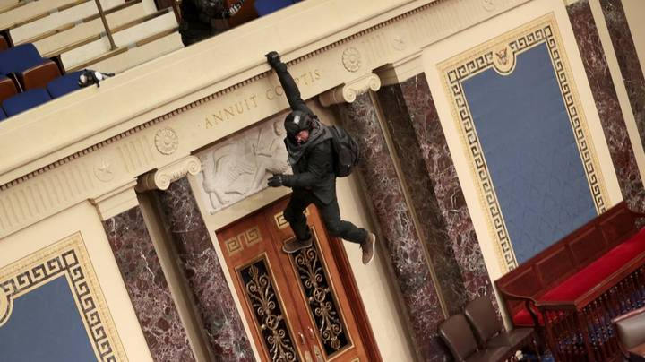 Man Claiming To Be First Into Senate Chamber Explains His Motives