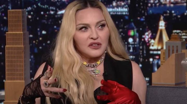Madonna Goes Wild On Jimmy Fallon Show By Climbing On Desk And Flashing Audience