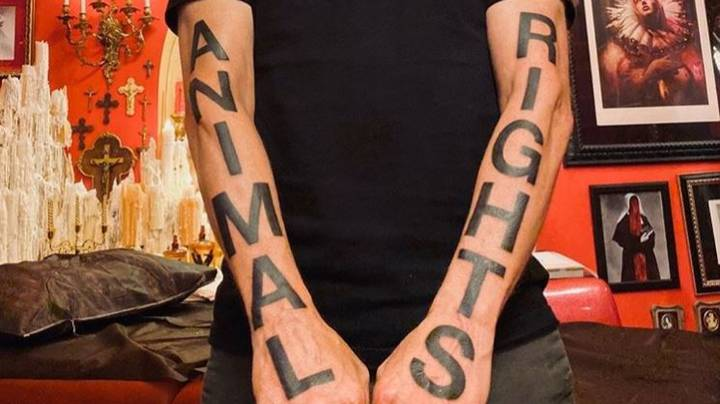 Singer Moby Makes Huge 'Animal Rights' Tattoos Even Bolder