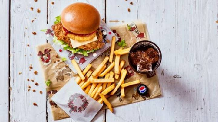 KFC Has Launched Its Christmas Dinner Box With Festive Fries And Stuffing Burger