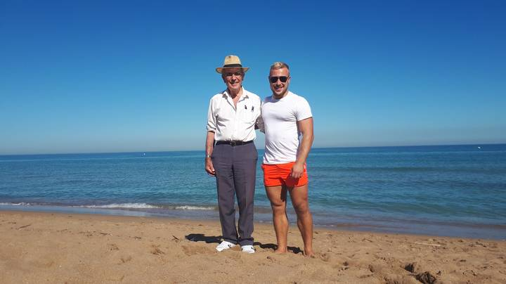 Man Takes His Granddad Out Clubbing Until 4am On Spanish Holiday And They Love It