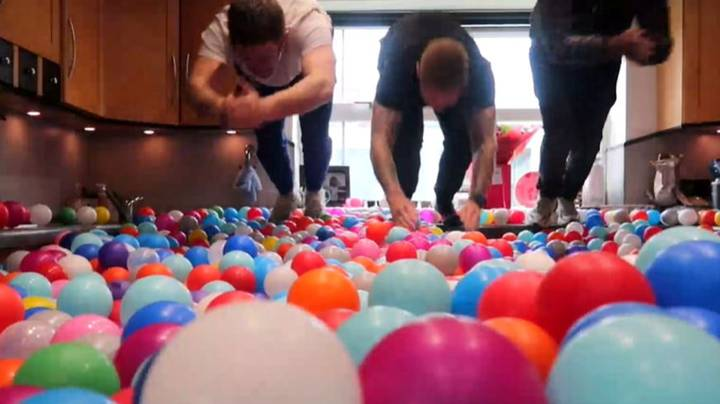 Dad Turns His House Into A Giant Ball Pit Filled With 250,000 Balls