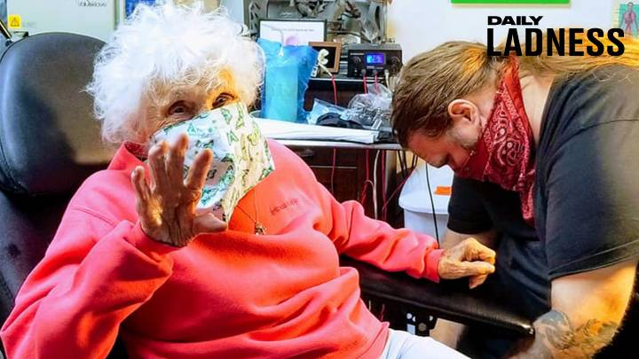 103-Year-Old Woman Gets Frog Tattoo To Tick It Off Her Bucket List