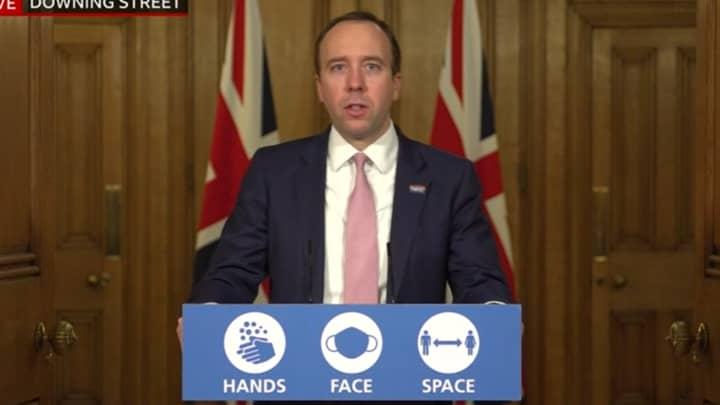 Matt Hancock Says The UK Has Secured Five Million Doses Of Moderna Vaccine